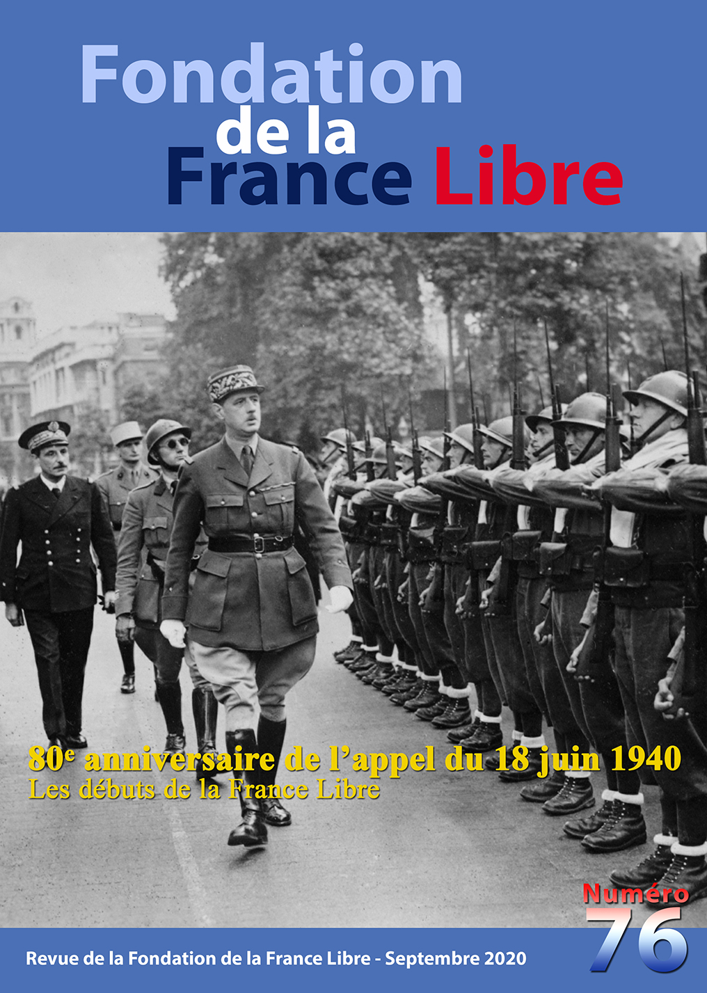 Fondation de la France Libre, n° 76, septembre 2020