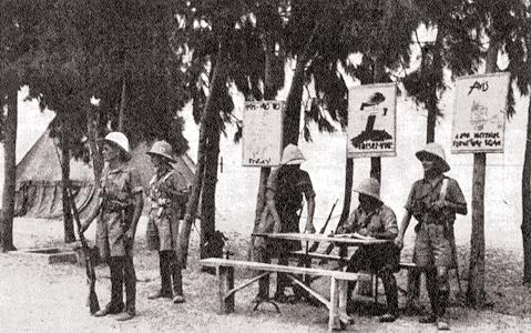 Le ralliement de légionnaires du Levant