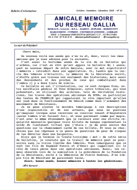 Amicale Mémoire du Réseau Gallia, n° 33 (périodique)