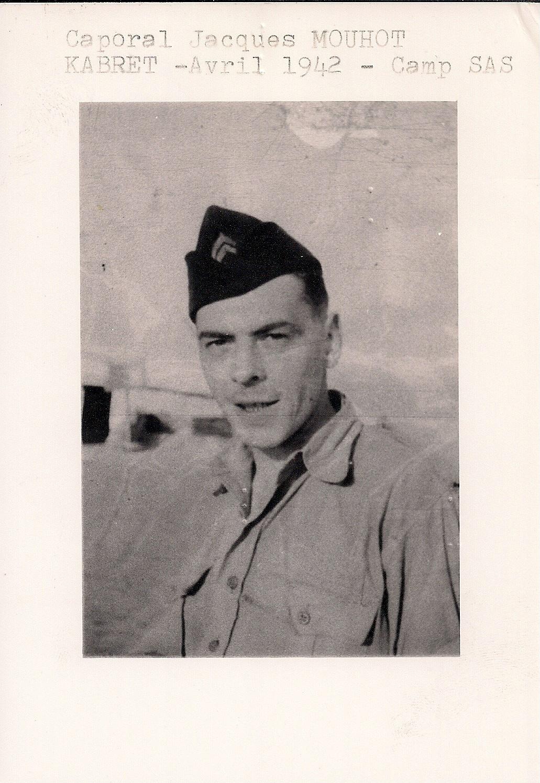 Jacques Mouhot, sergent-chef parachutiste