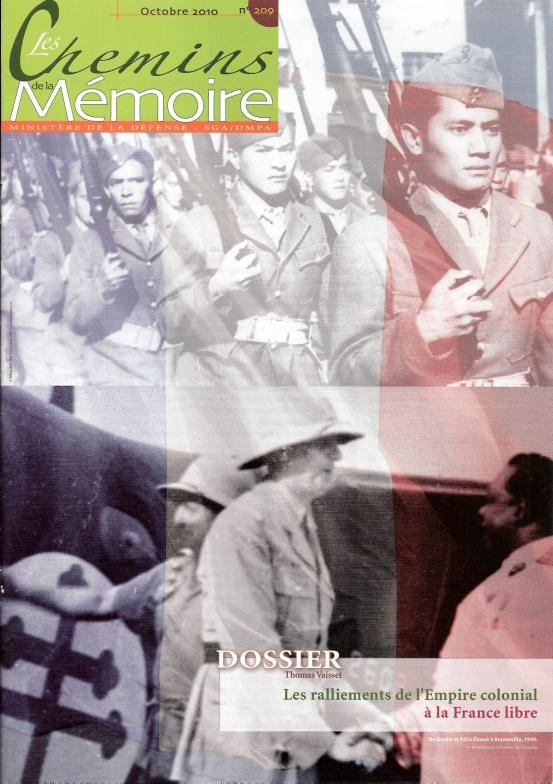 Les Chemins de la Mémoire, n° 209, octobre 2010 (périodique)