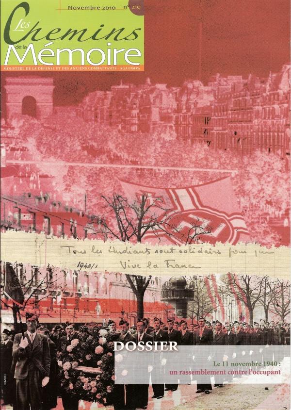 Les Chemins de la Mémoire, n° 210, novembre 2010 (périodique)