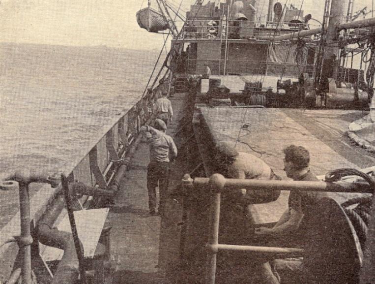 À bord de l'Anadyr, juin 1940