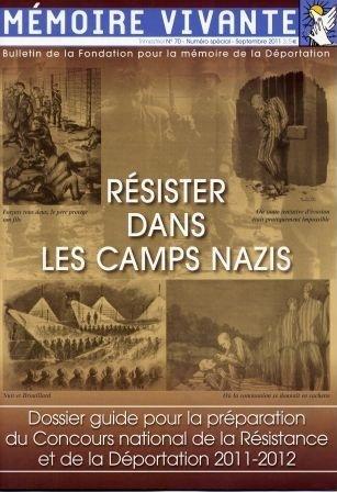La brochure du Concours national de la Résistance et de la Déportation 2012