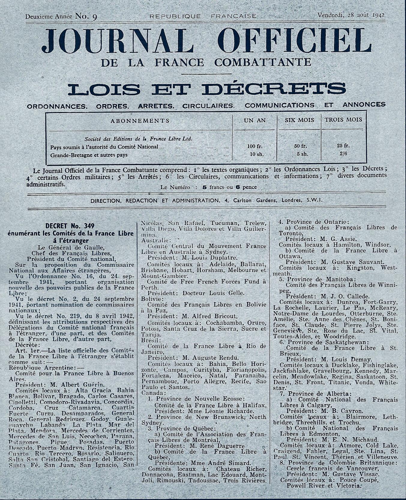 Comment sont nés les Comités de la France à l'Étranger