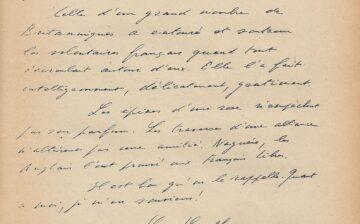 Lettre du général de Gaulle sur l'amitié franco-britannique (janvier 1954)