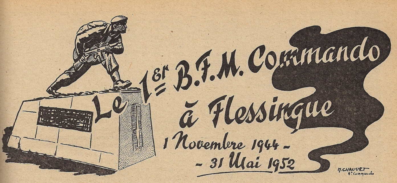 Le 1er B.F.M. Commando à Flessingue (1er novembre 1944-31 mai 1952)