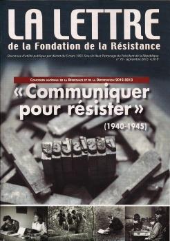La brochure du Concours national de la Résistance et de la Déportation 2013