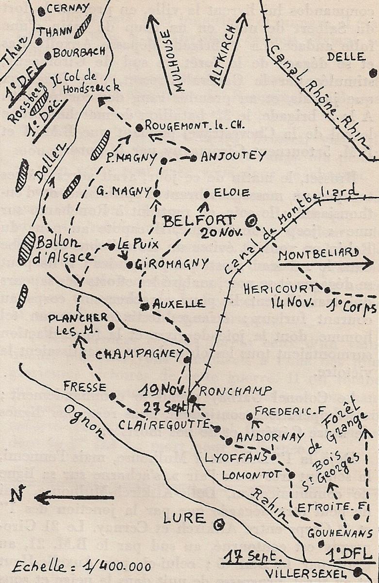 La 1re D.F.L. dans les Vosges