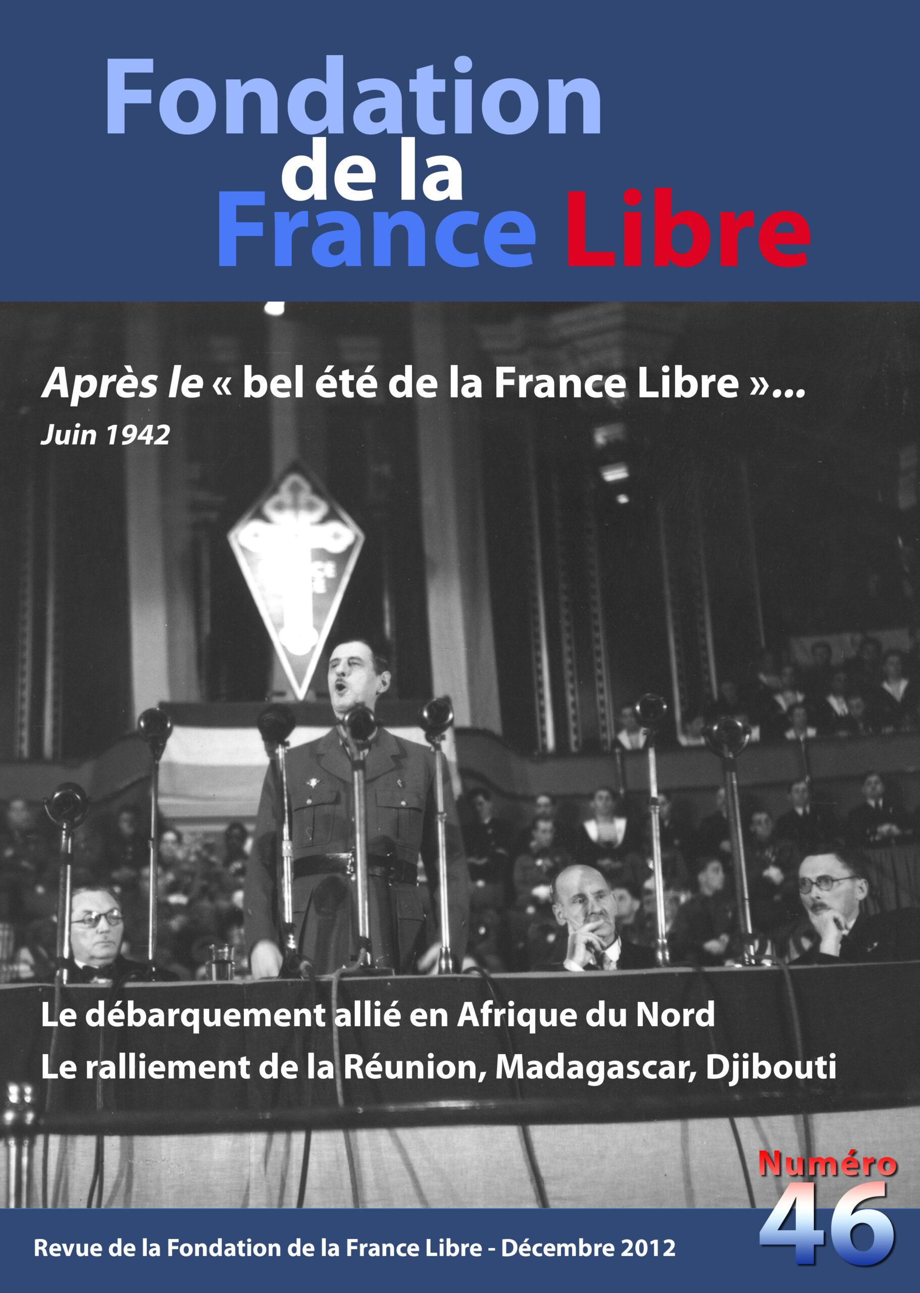 Fondation de la France Libre, n° 46, décembre 2012 (périodique)