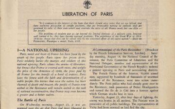 La libération de Paris à travers la presse