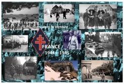 1944-1945 – Villes et villages Libres avec la 1re DFL