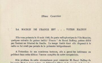 Courriers de la Maison de France