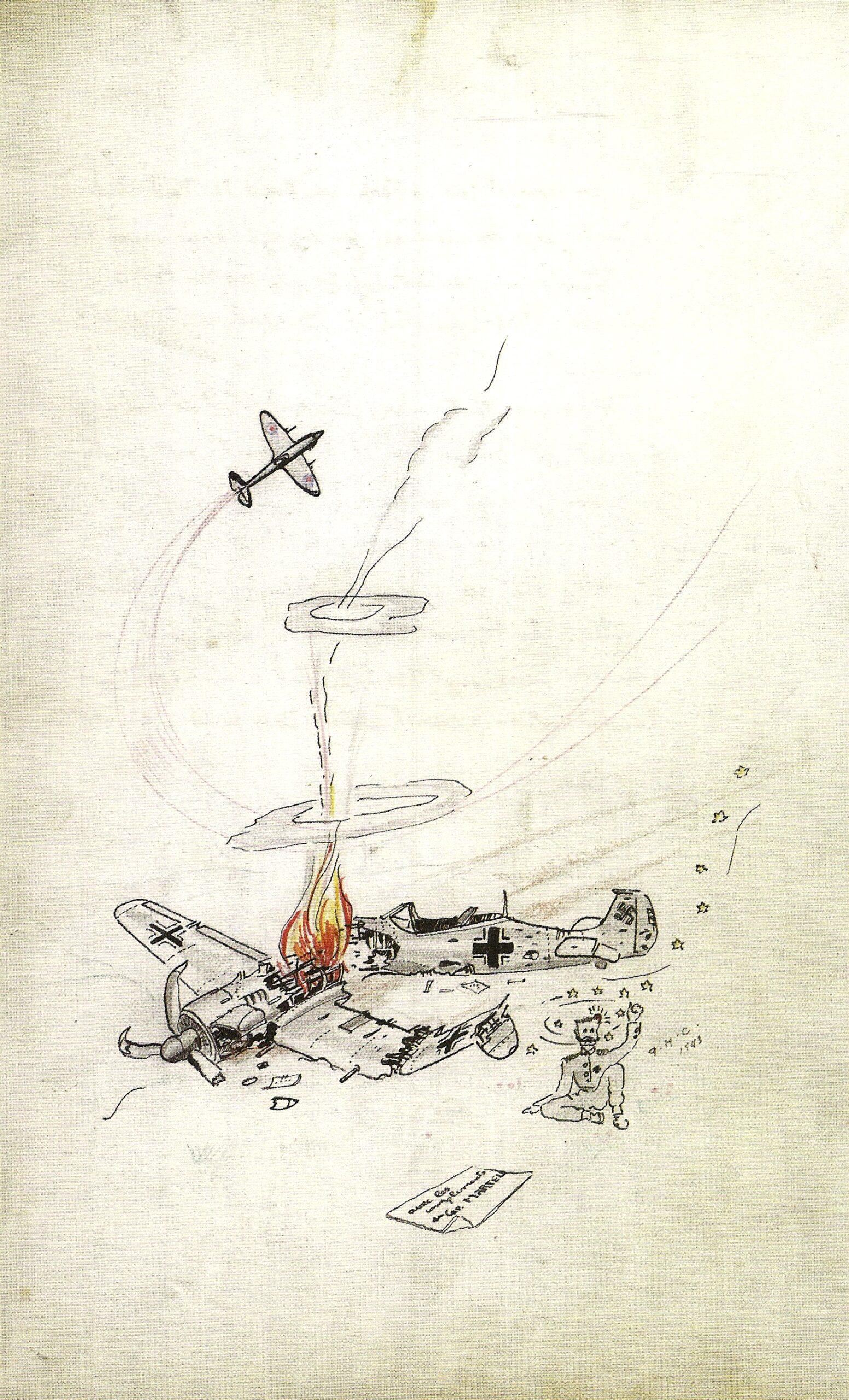 Pierre Clostermann dessinateur