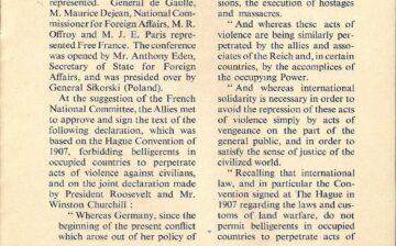 La volonté affirmée de punir les crimes de guerre