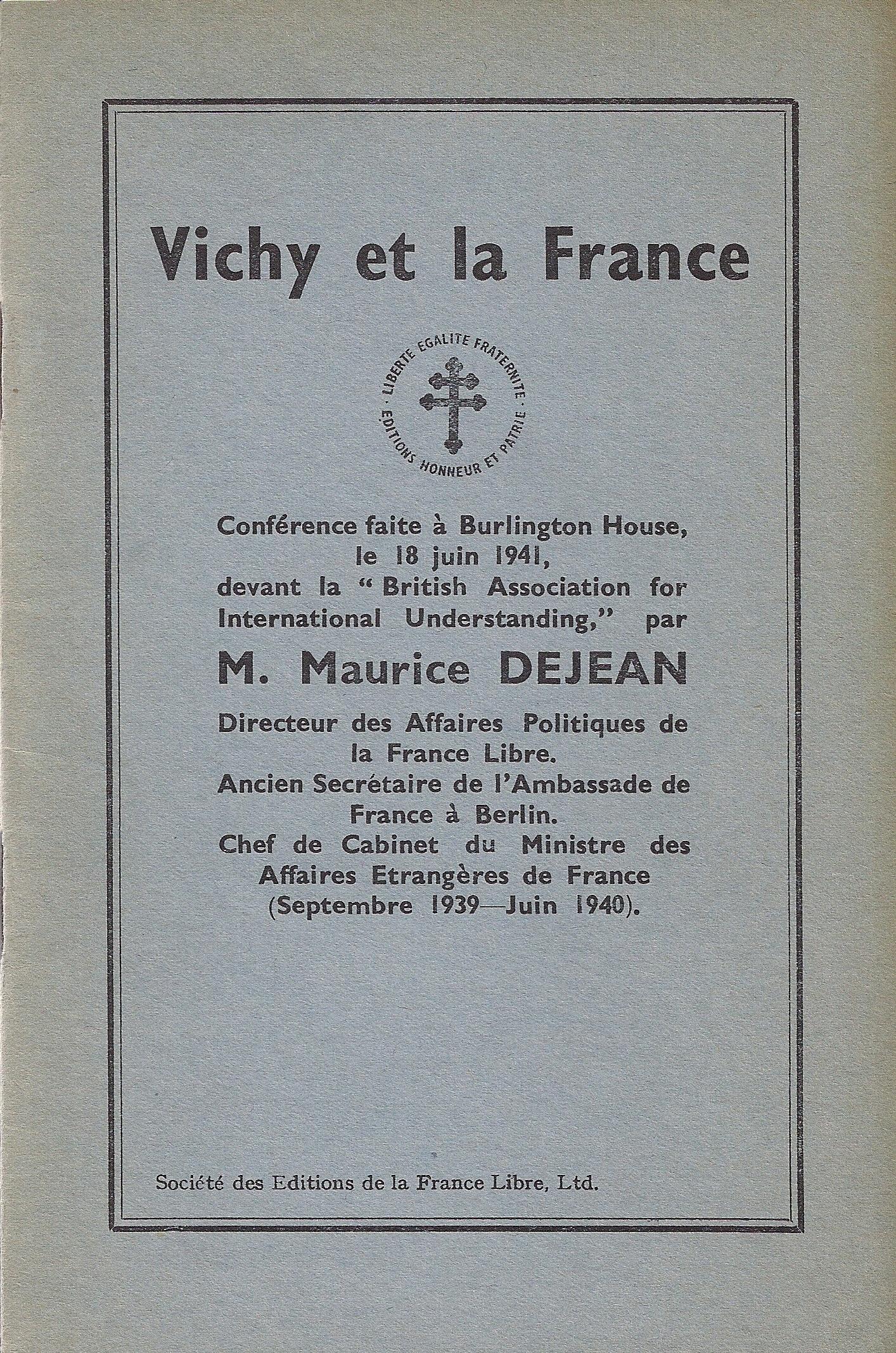 Vichy et la France
