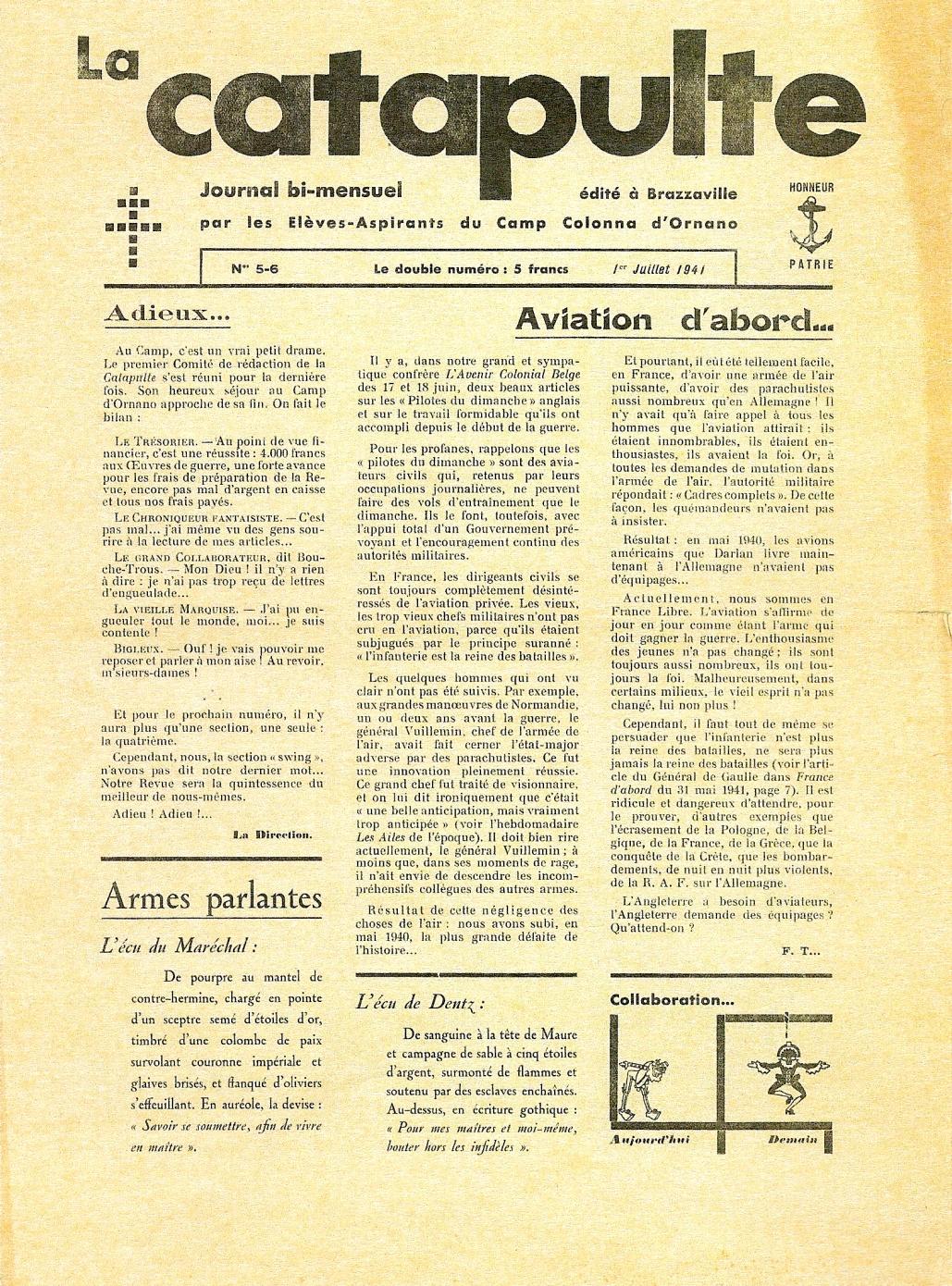 La Catapulte (juillet 1941)
