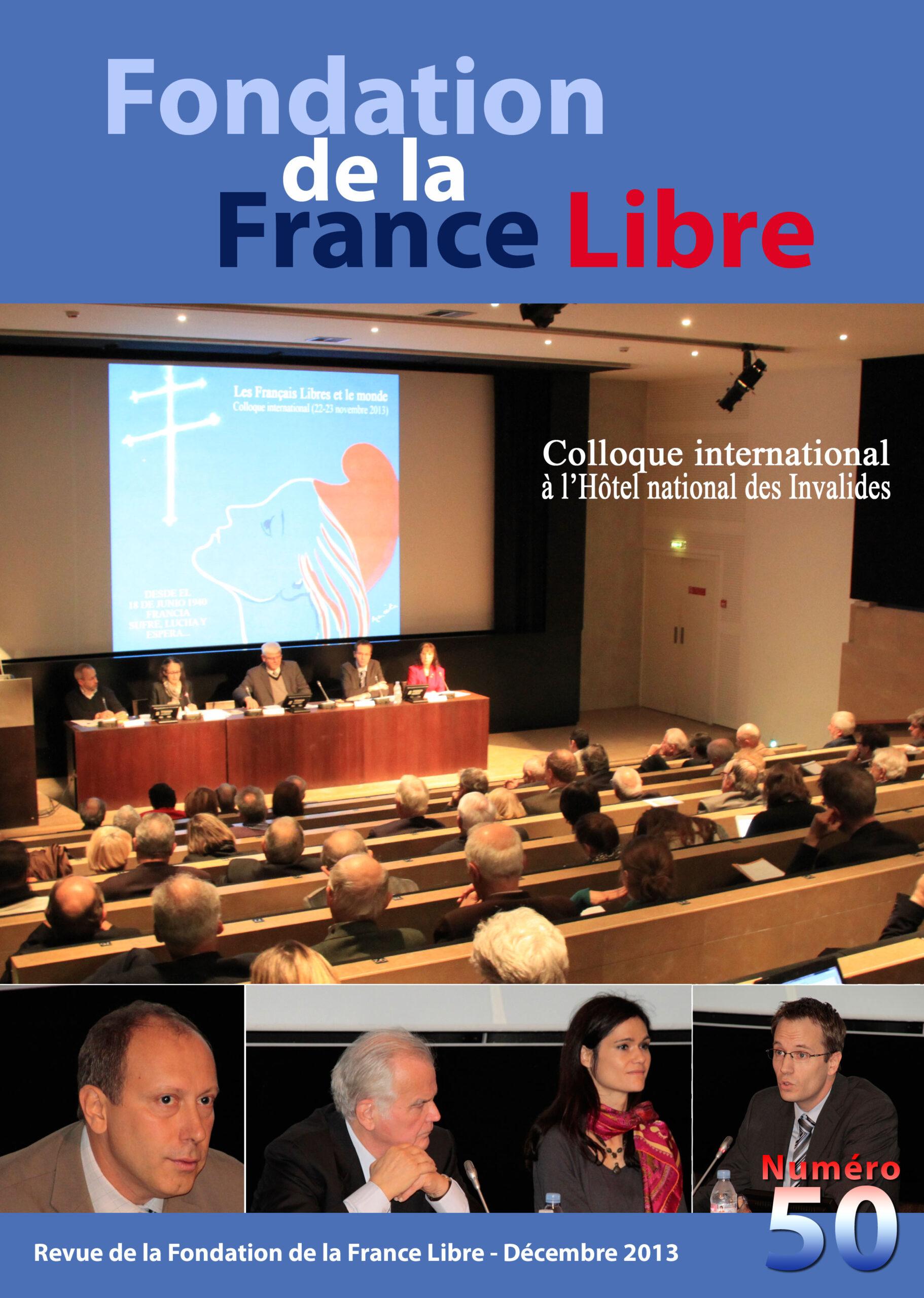 Fondation de la France Libre, n° 50, décembre 2013 (périodique)