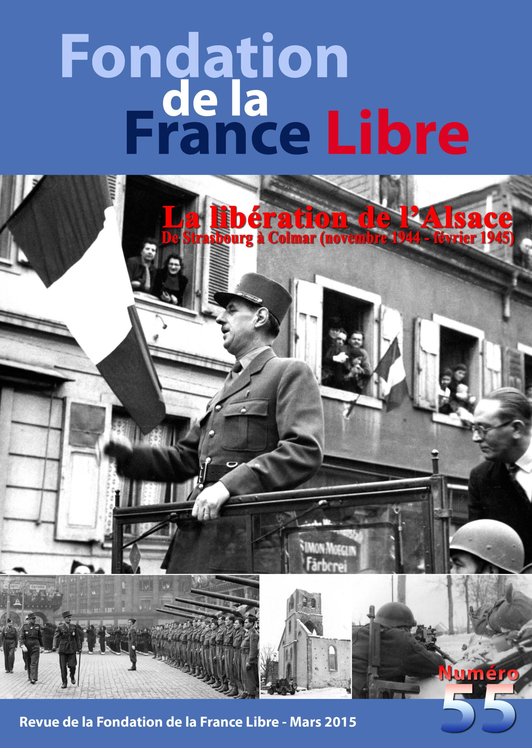 Fondation de la France Libre, n° 55, mars 2015