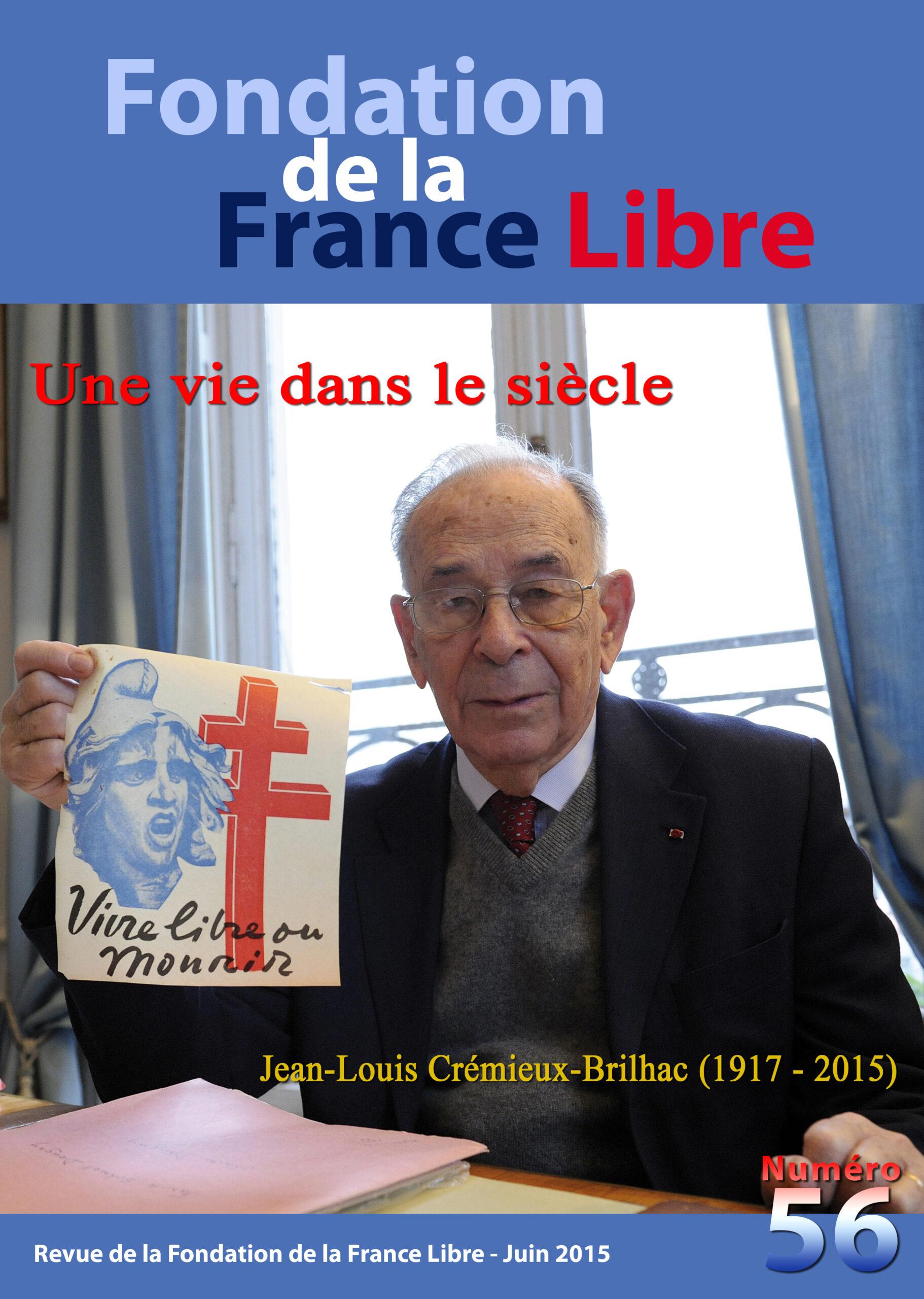 Fondation de la France Libre, n° 56, juin 2015