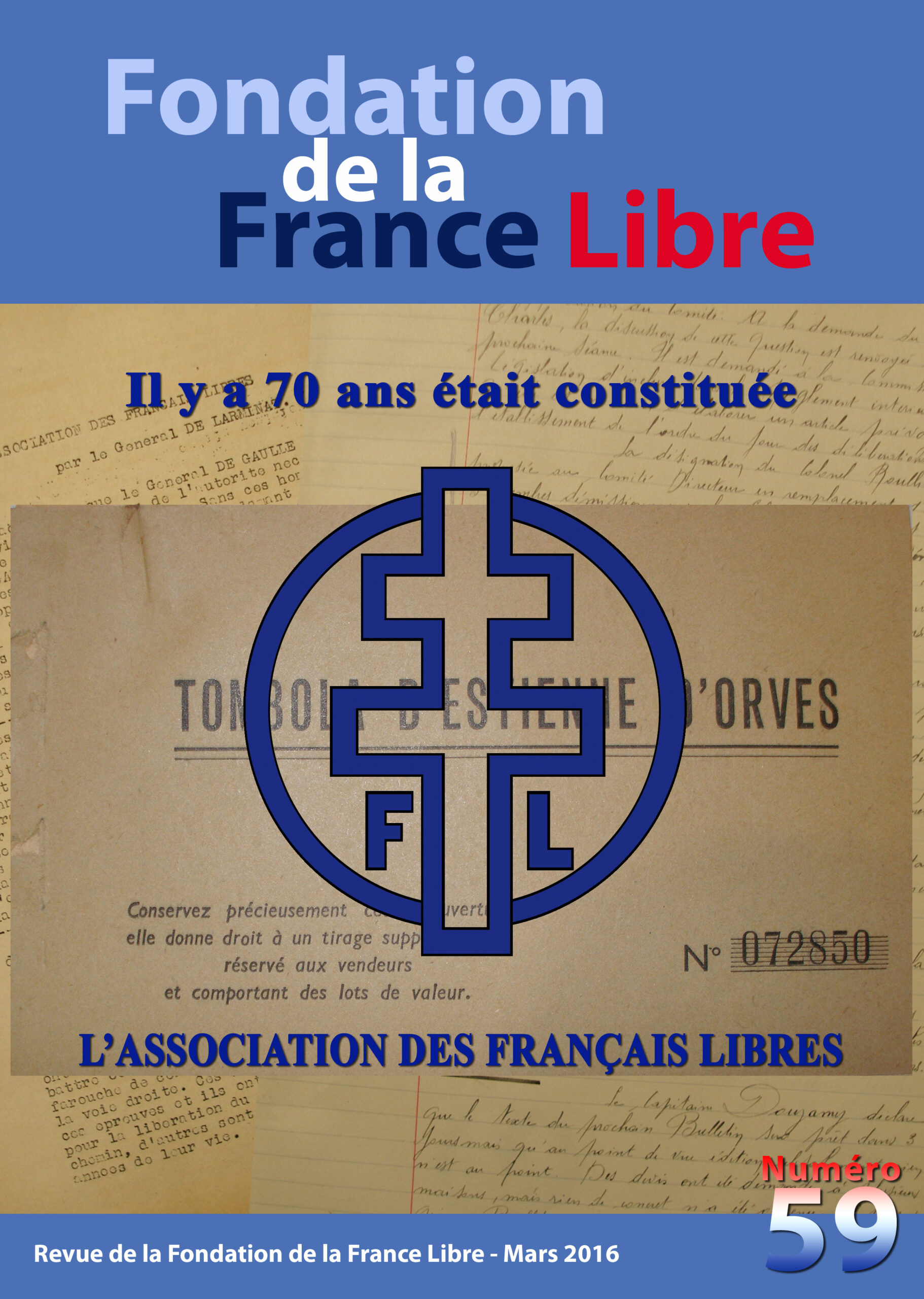 Fondation de la France Libre, n° 59, mars 2016