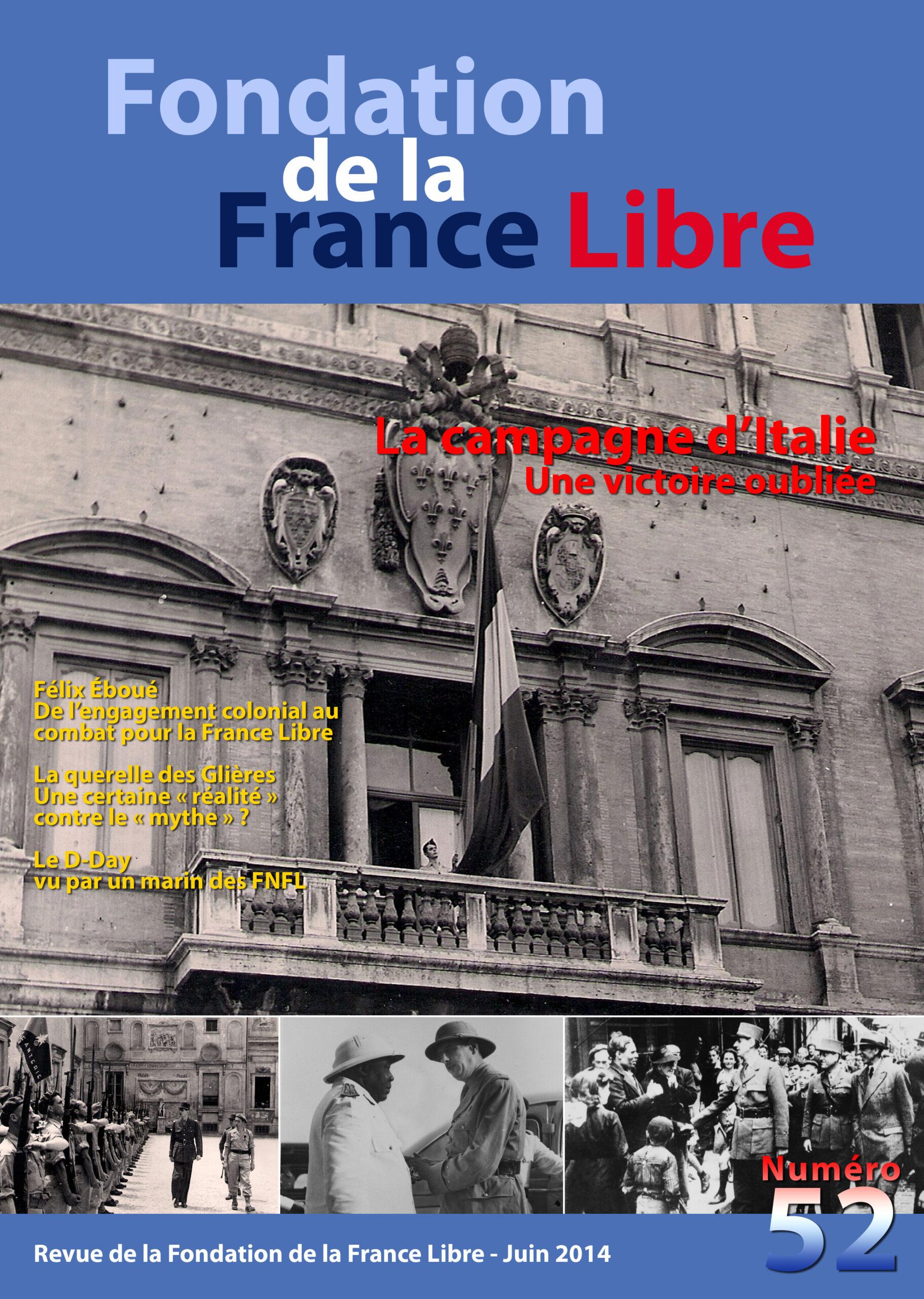 Fondation de la France Libre, n° 52, juin 2014 (périodique)