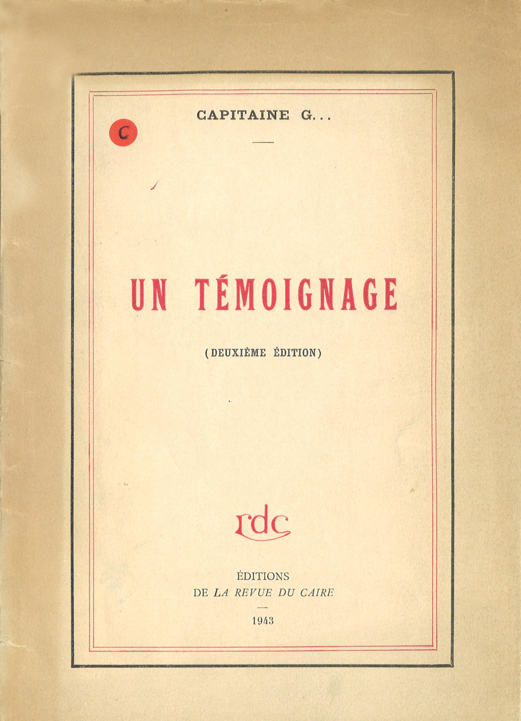 Lettres de François Garbit à sa mère