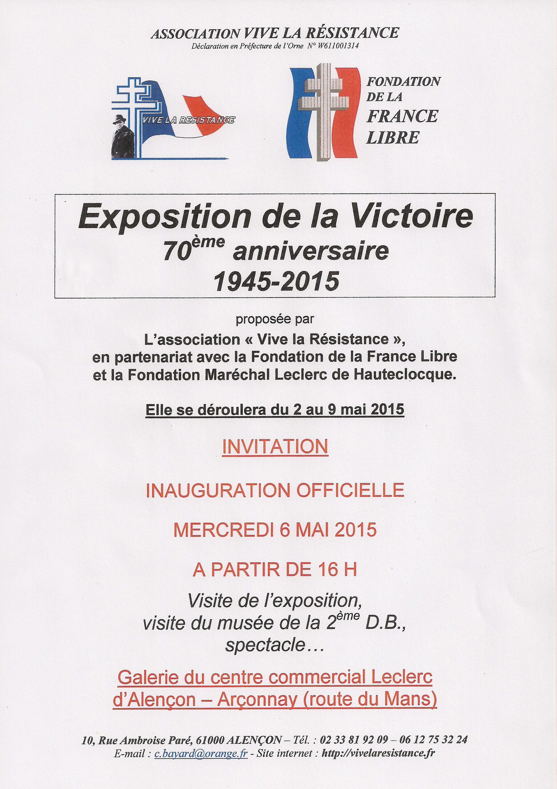 Alençon – exposition de la Victoire 1945