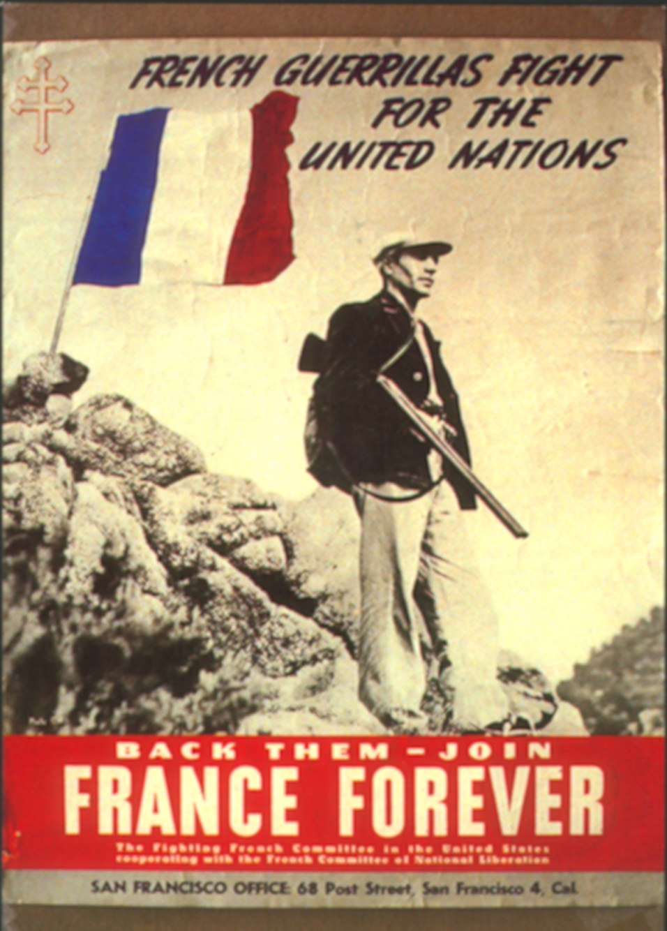 French guerrillas fight for the United Nations