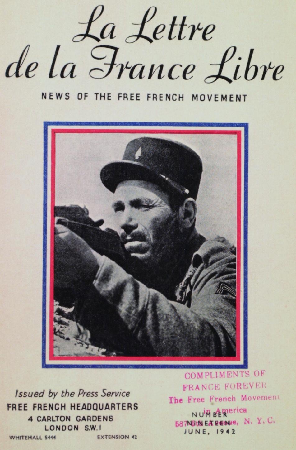 La Lettre de la France Libre (juin 1942)
