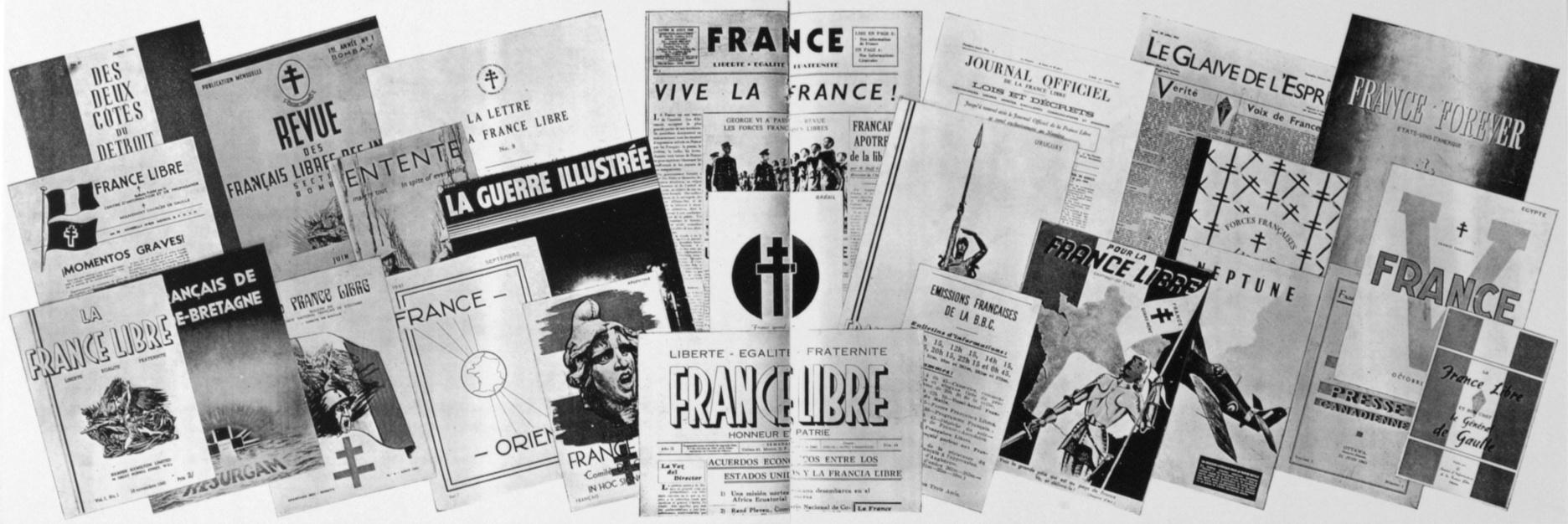 Panorama de la presse de la France Libre