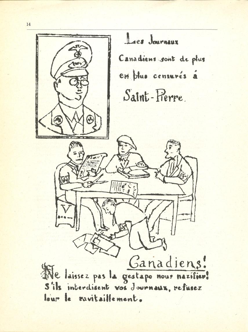 Tract sur la censure des journaux canadiens