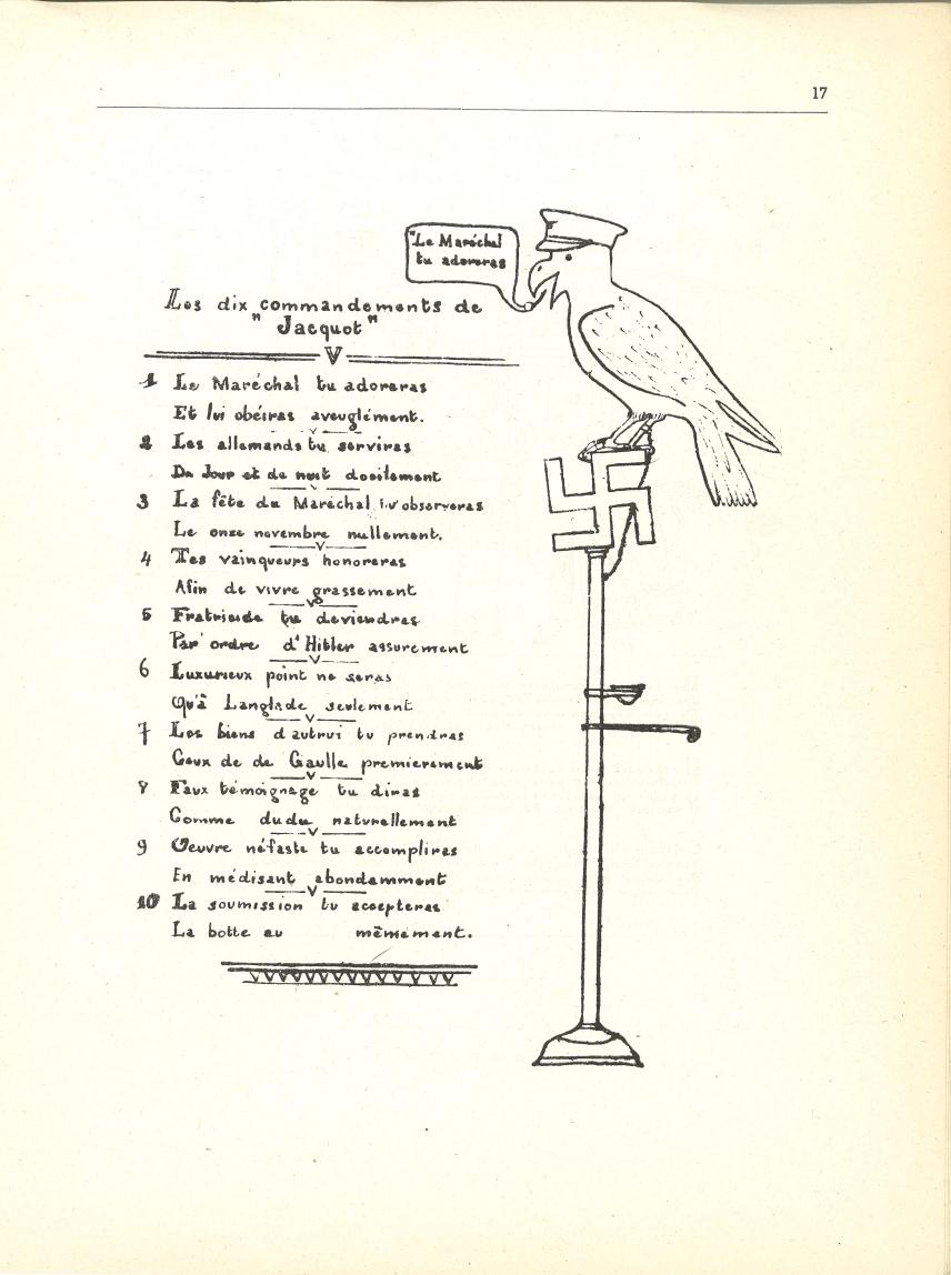 Les dix commandements de « Jacquot »