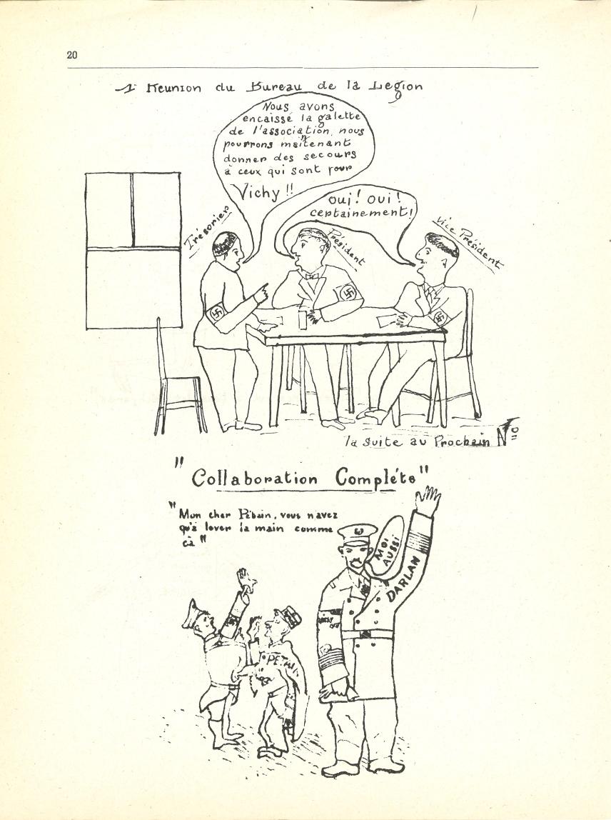 Une réunion du bureau de la Légion – « Collaboration complète »