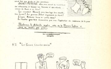 Tract appelant à réclamer le plébiscite – « Le Grand Charles arrive »