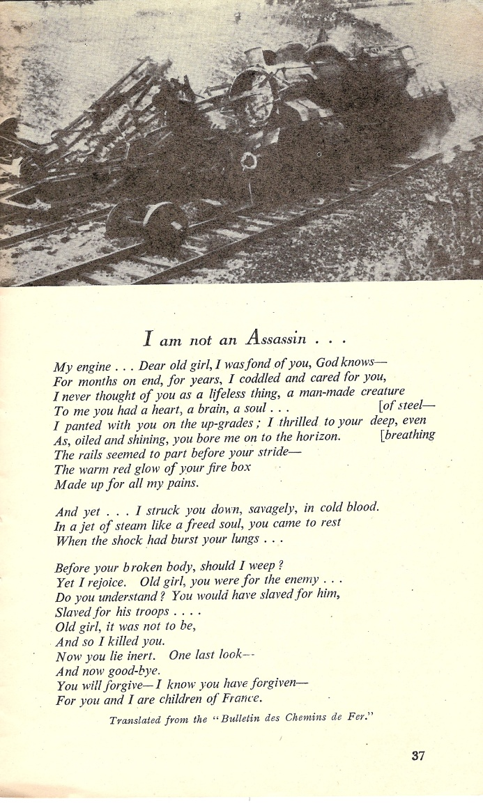 « I am not an Assassin… », Tricolore (avril 1944)