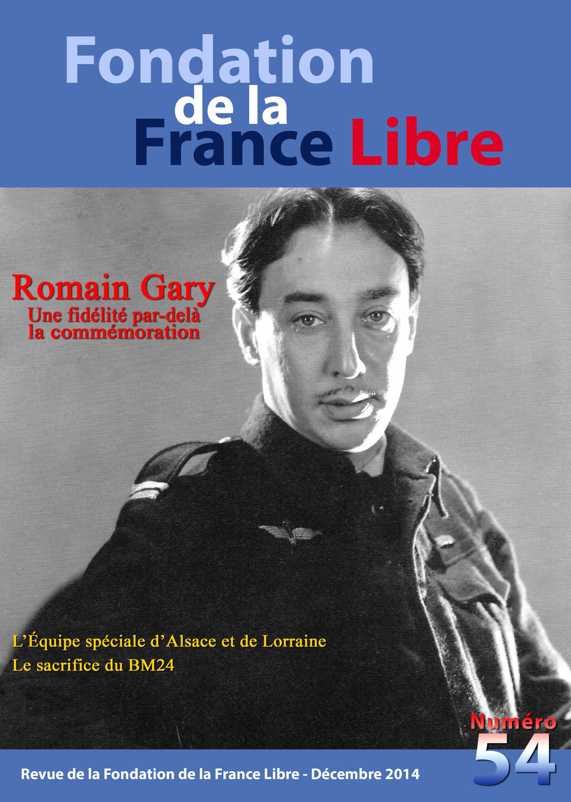Fondation de la France Libre, n° 54, décembre 2014