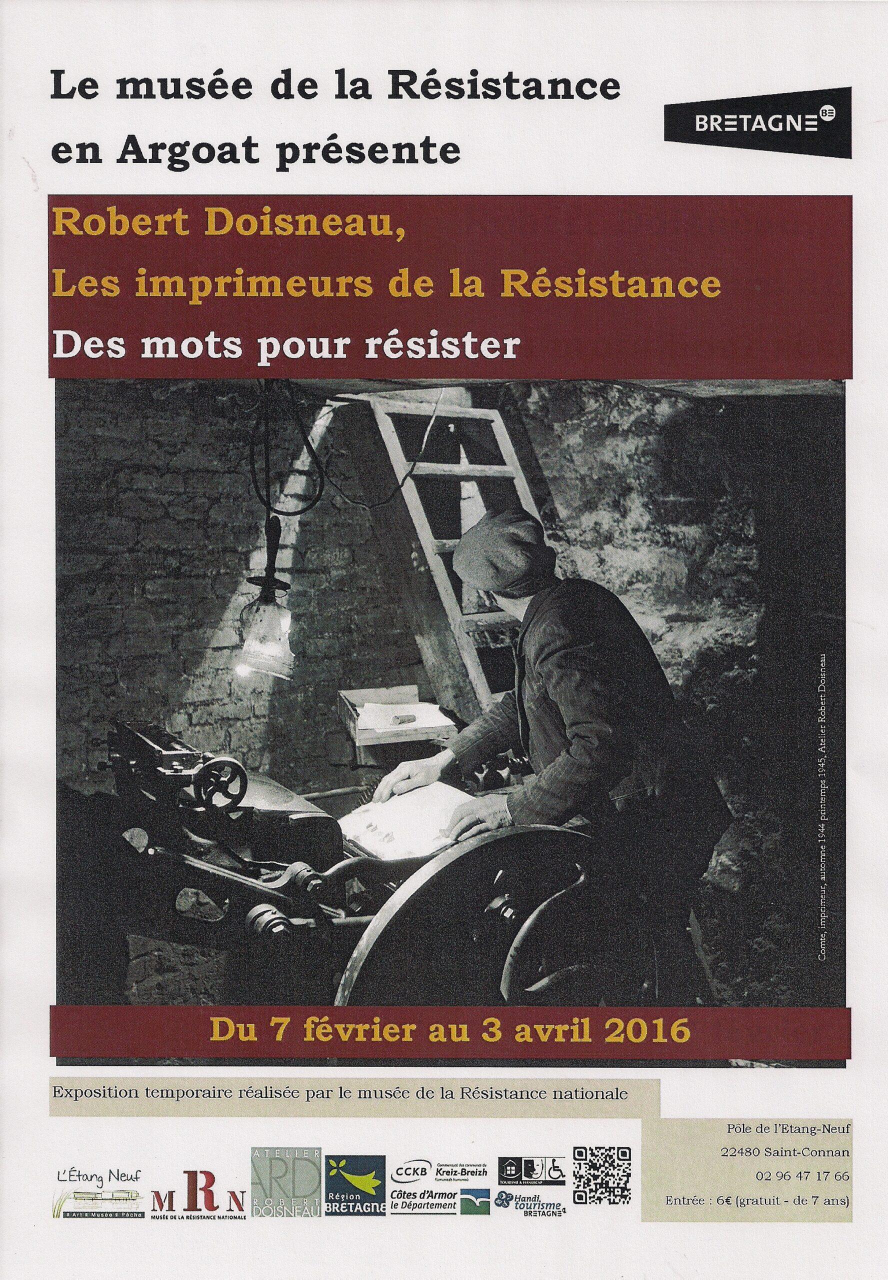 Robert Doisneau, les imprimeurs de la Résistance (exposition)
