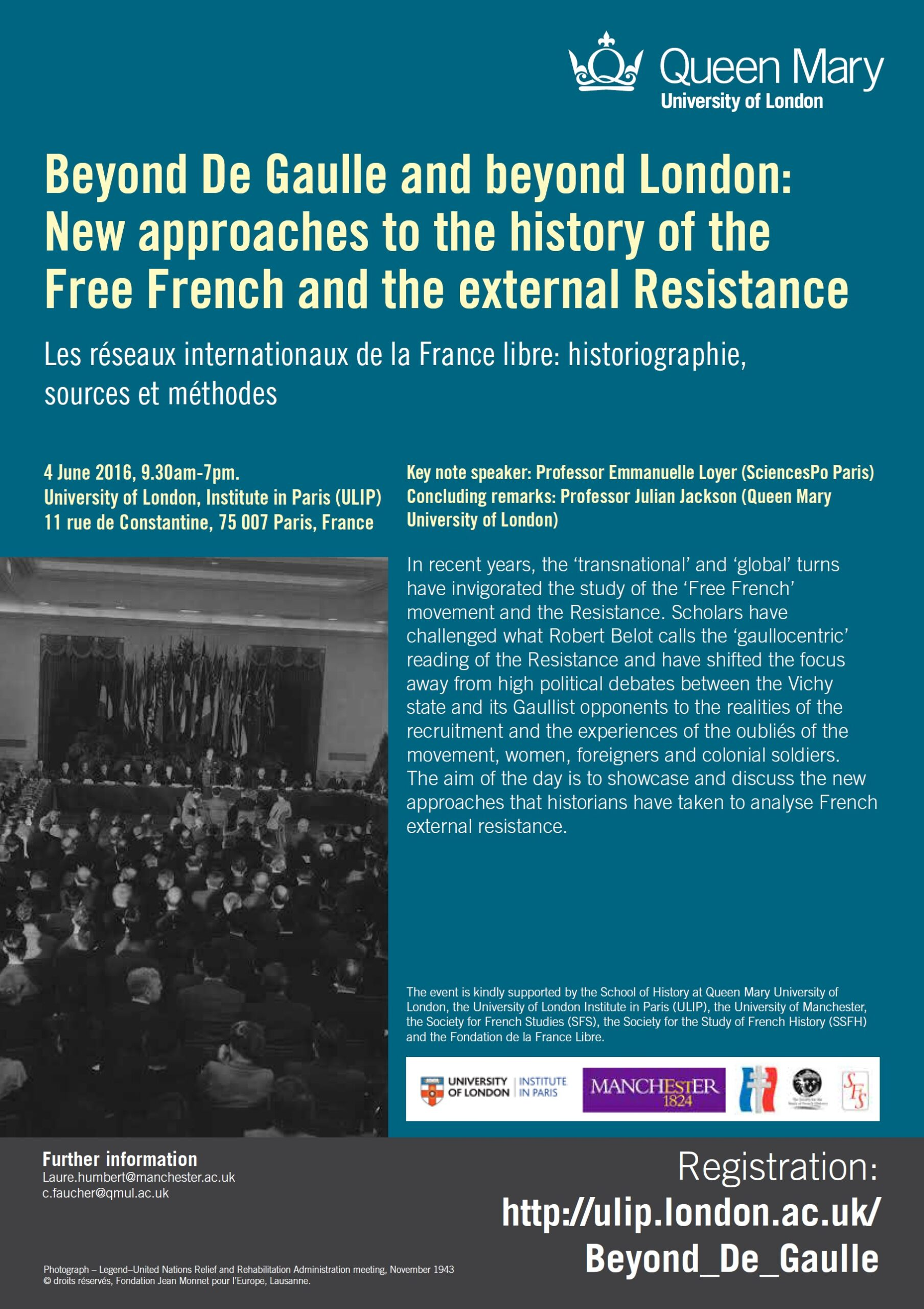 Les réseaux internationaux de la France Libre (symposium international)