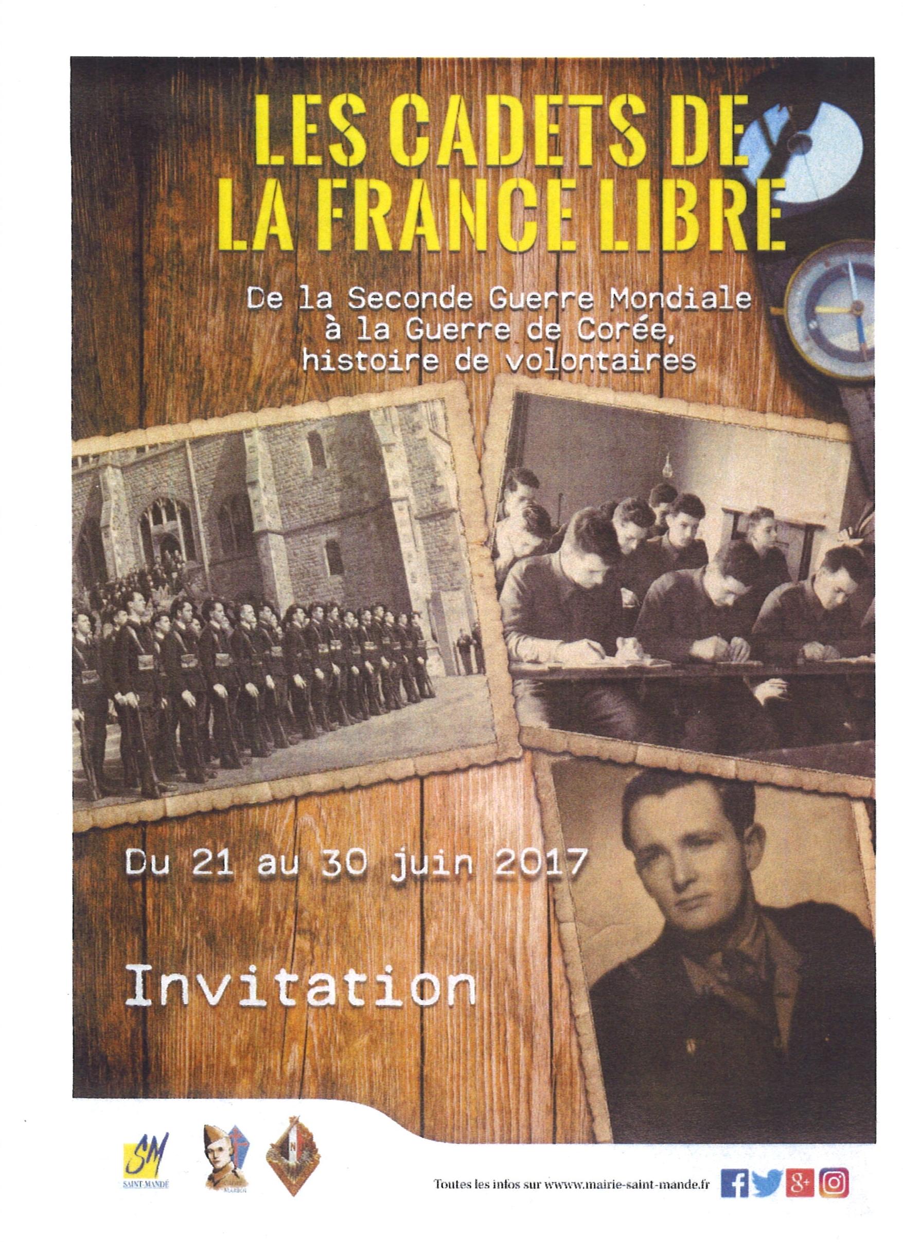 Exposition Les Cadets de la France Libre (21-30 juin 2017)