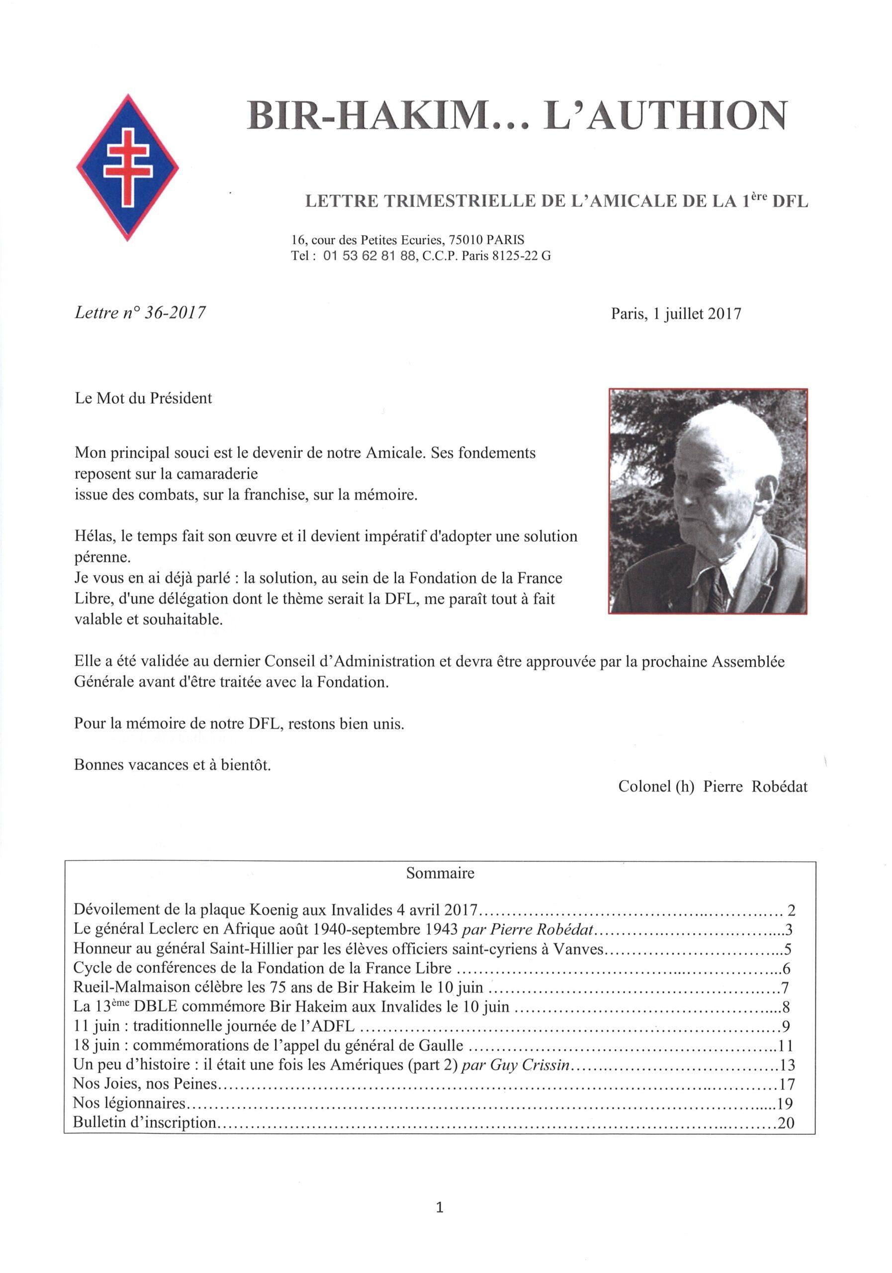 Bir-Hakim… L'Authion, n° 36 (périodique)