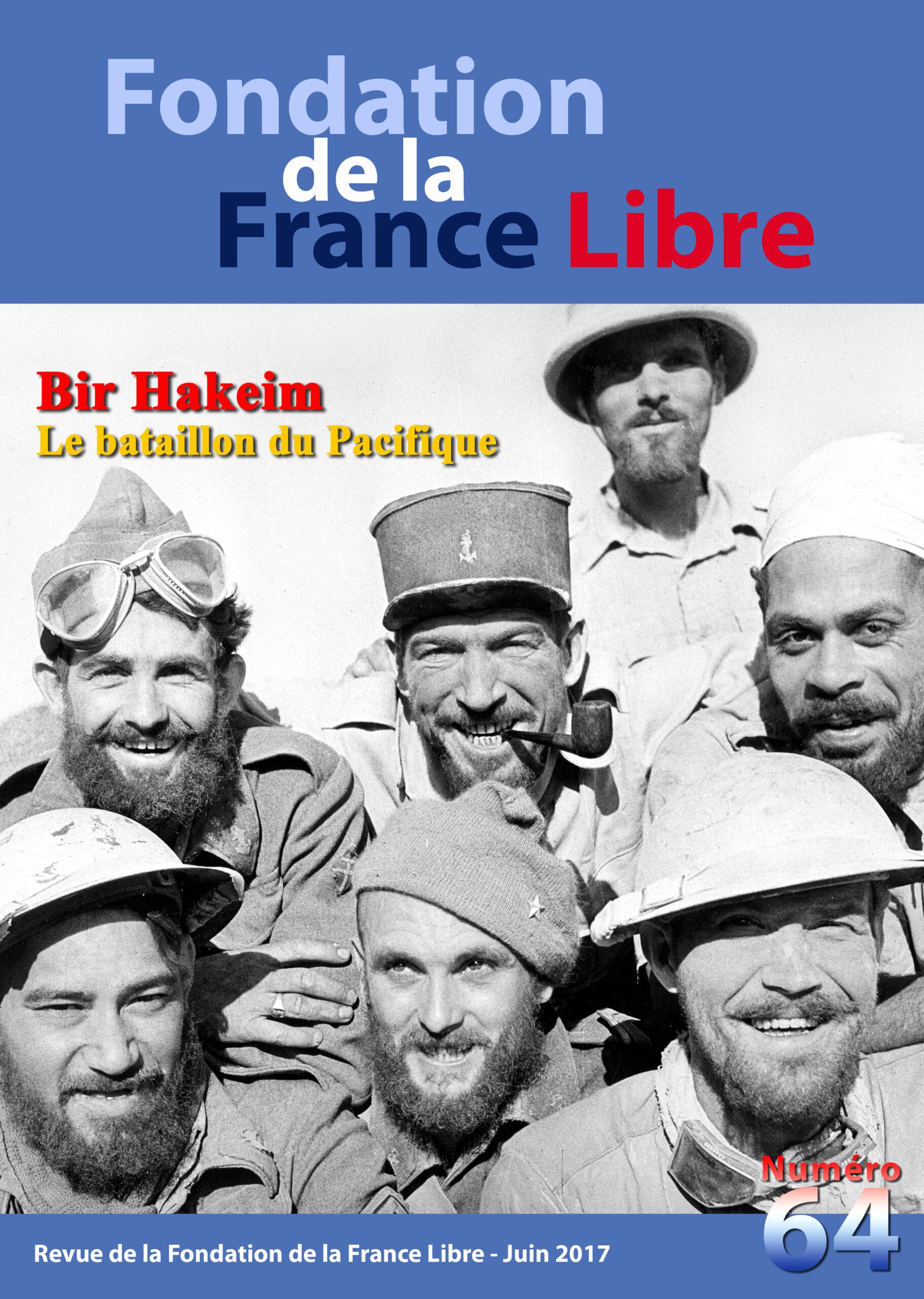 Fondation de la France Libre, n° 64, juin 2017