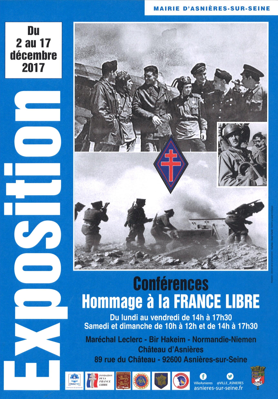 Hommage d'Asnières à la France Libre (2-17 décembre 2017)