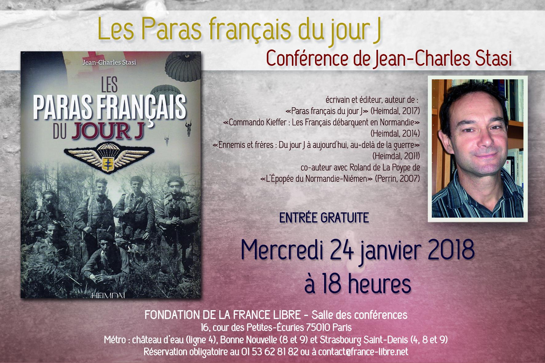 Les Paras français du jour J (conférence)