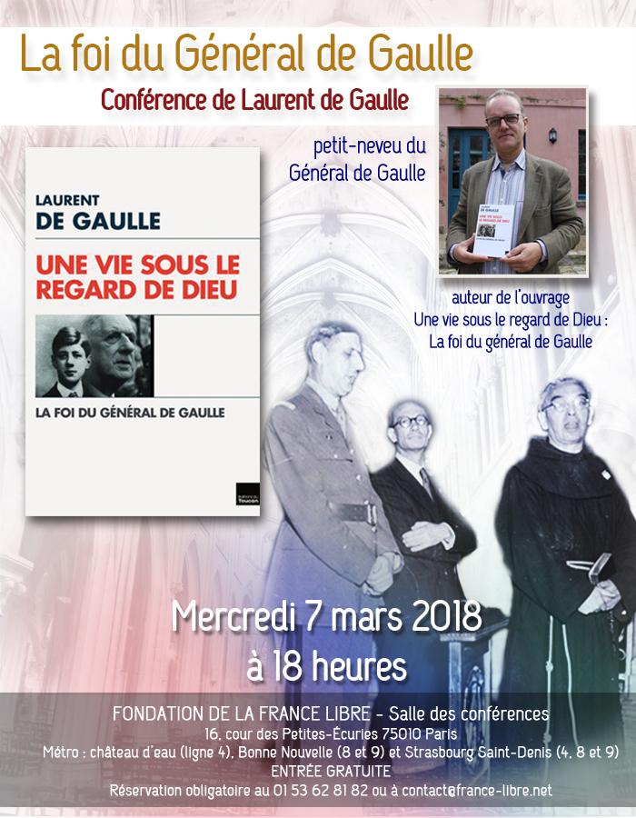 La foi du général de Gaulle (conférence)