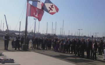 21 avril 2018 : hommage à Paimpol aux marins de la France Libre