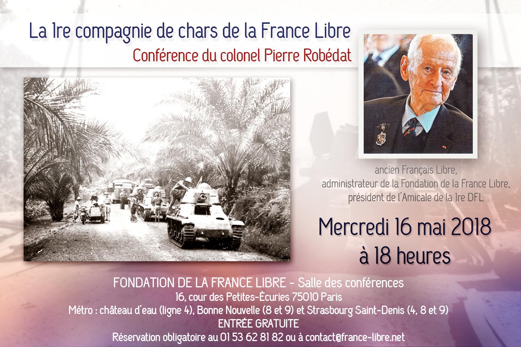 La 1re compagnie de chars de la France Libre (conférence)