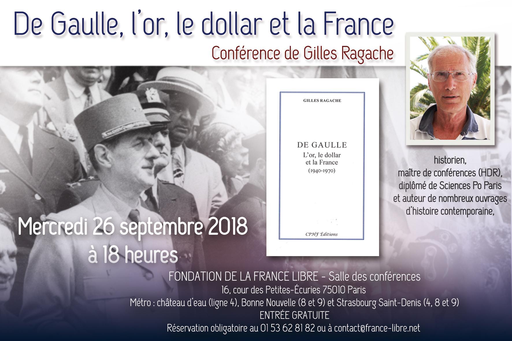 De Gaulle, l'or, le dollar et la France (conférence)