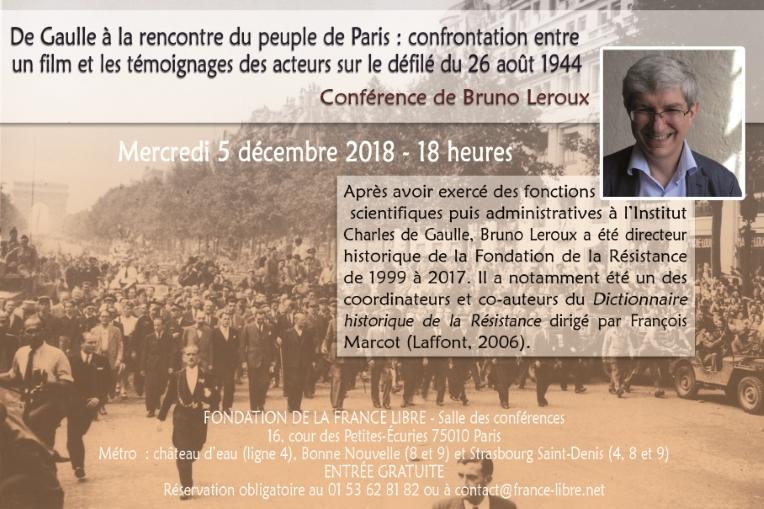De Gaulle à la rencontre du peuple de Paris lors du défilé du 26 août 1944 (conférence)