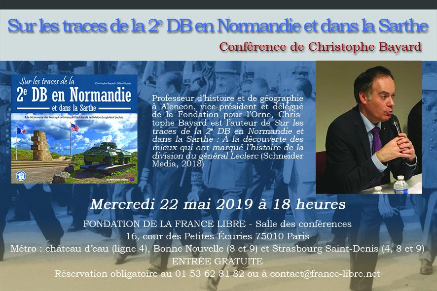 Sur les traces de la 2e DB en Normandie et dans la Sarthe (conférence)